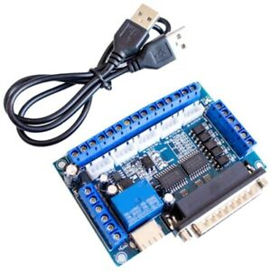 Cnc 5 axis Stepper Motor Driver Interface Board With Usb Cable Optocoupler X6k8