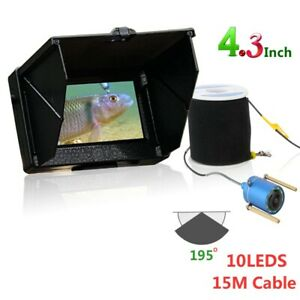 15M 4.3 inch 195 Degrees 1200TVL Fish Finder Underwater Fishing Camera