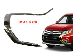 Usa Front Bumper Lh Chrome Molding Strip Trim For Mitsubishi Outlander 2016 2019