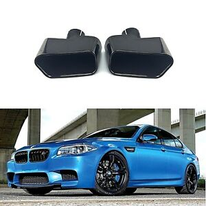 For Bmw 5 Series F10 F11 F18 Black Square Exhaust Muffler Tips Pipe End Cover