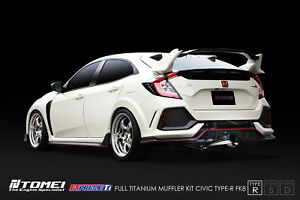 Tomei Expreme Titanium Exhaust System Type R For 2017 Honda Civic Type R Fk8