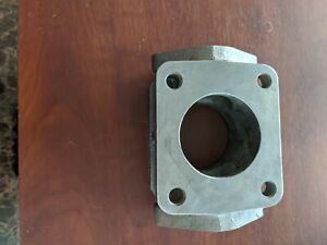 T 4 Cast Iron Flange Turbo Charger Manifold Exhaust Adaptor Duel Wastegate Port