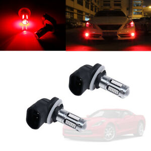881 893 Red Led Fog Lights Drl Driving Lamp Bulbs For Nissan Ford Gmc Dodge Etc