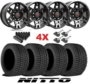 Trd Black Wheels Rims Tires 285 70 17 At Nitto Terra Grappler Package