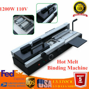 Wireless A4 Book Binding Machine Hot Melt Glue Paper Binder 110v 1200w Wd 40a