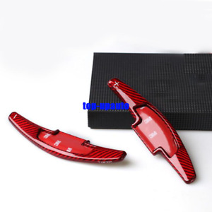 Red Carbon Fiber Steering Wheel Shift Paddle For Acura Mdx Rdx Ilx Tlx