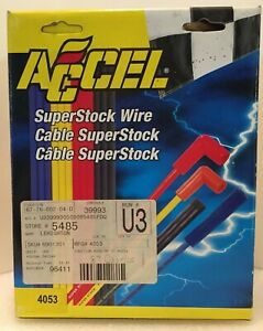 Accel Superstock Wire 4053 Spark Plug Wires New In Box Free Ship