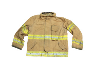 Lion Apparel Firefighter Fireman Turnout Gear Jacket Tan And Yellow