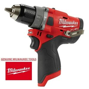 Milwaukee M12 Fuel Brushless Cordless 1 2 In Hammer Drill 2504 20 Tool Only