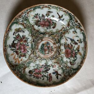Antique 19th C Chinese Canton Famille Rose Porcelainn Plate 3