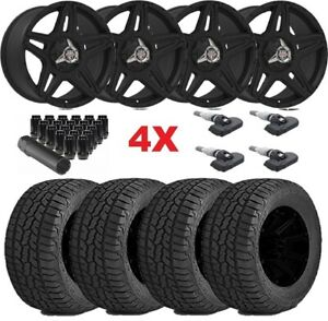 Off Road Black Wheels Rims Tires 265 70 17 265 70 17 At Package F 250 F 350