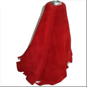 Car Red Suede Shift Gear Knob Boots Glove Cover