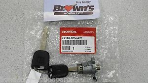 New Genuine Honda Pilot Drivers Door Lock Cylinder With Key 72185 s9v a21