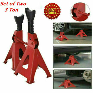 Big Red Torin Steel Jack Stands 3 Ton 6 000 Lb Capacity Red 1 Pair Stands