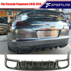 Carbon Fiber Rear Bumper Diffuser Lip Fit For Porsche Panamera 970 1 2010 2014