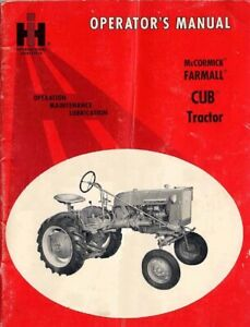 Mccormick Farmall Cub Tractor Operation Maintenance Lubrication On Cd