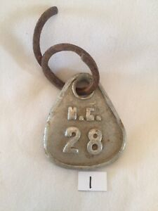Collectible Aluminum Metal Rare Vintage Cattle Livestock Neck Tag Mc 28 Lot 1