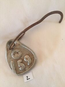 Collectible Aluminum Metal Rare Vintage Cattle Livestock Neck Tag jcl 159 Lot 2