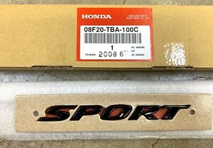 Genuine Oem Honda 2017 2020 Civic Gloss Black Rear Sport Emblem 08f20 tba 100c