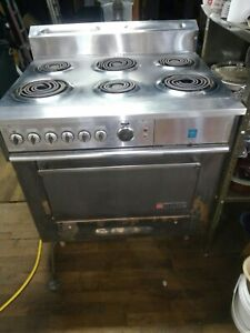 Garland Commercial Electric Range 6 Burner Stove Top W oven Broiler