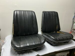 1964 1967 Gm A body Vinyl Front Bucket Seats Oem Nos Chevelle Gto Original Black