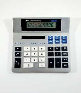 Texas Instruments Ba 20 Profit Manager Business Ti Calculator Vintage 2000 Vtg