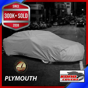 Plymouth Outdoor Car Cover Weatherproof 100 Full Warranty Custom Fit
