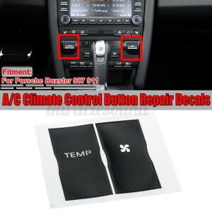 For Porsche Boxster 987 911 Ac Climate Control Button Repair Decals Stickers