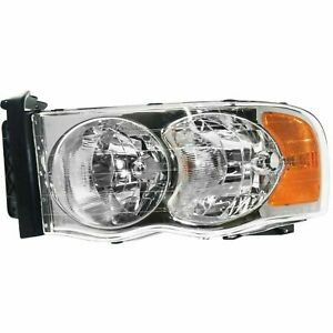 New Halogen Head Lamp Assembly Left Side Fits Dodge Ram 1500 2002 2005 Ch2502135