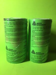 Genuine Monarch 1131 Fluorescent Green Labels 2 sleeves 16 rolls 2 Free Inks