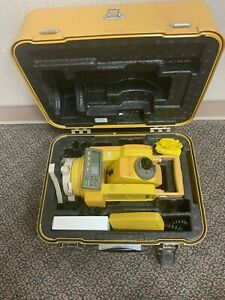 Topcon Total Station Gts 213 With Charger Hard Case Data Cable
