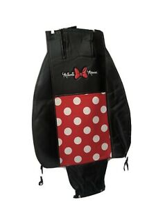 Set Of 2 Minni Mouse 1 Piece Car Seat Cover Premium Sideless With Cargo Pocket