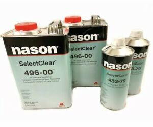 Nason 496 00 2k Urethane Select Clear Coat With 483 79 High Temp Activator Combo