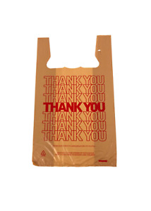 T shirt Thank You Plastic Retail Carry Out Take Away Check Out Bag 15x7x26