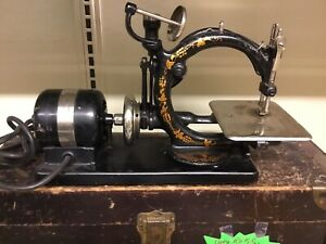 Antique Rare Wilcox Gibbs Sewing Machine With Original Box Etc 1800 S