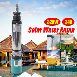 Submersible Water Pump Deep Well Solar Pump 24v 320w For Water Intake 5m H