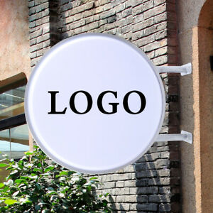 110v 20 Double Sided Outdoor Circular Illuminated Led Light Box Projecting Sign