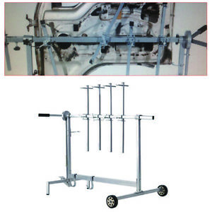 Automotive Spray Painting Rack Stand Auto Body Shop Paint Booth Hood Parts