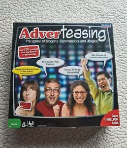 Trivia Board Game ADVERTEASING Game Of Slogans Commercial Jingles Ages 12+ NEW $29.98