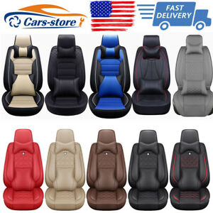 Universal Top Pu Leather Car Seat Cover Luxury 5 Sit Front Rear Car Suv Interior