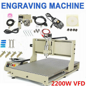 Usb 4 Axis 6090 Cnc Router Engraver 2 2kw Vfd Milling Machine Ball Screws Top