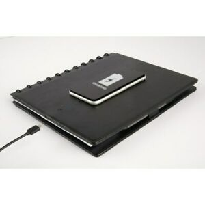 Tul Wireless Charging Notebook Leather Cover 8 1 2 X 11 Black