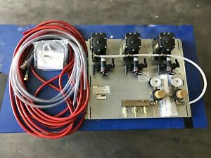 New 66134 3a Perlick 3 Product Beer Pump Panel W Vent Kit And Drop Lines