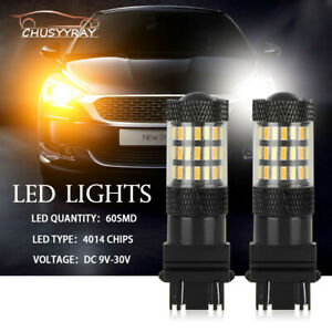 For 2012 2015 Toyota Tacoma Led Turn Signal Light Bulbs White amber Dual Colors