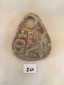 Collectible Aluminum Metal Rare Vintage Cattle Livestock Neck Tag Jcl 321 Lot 20