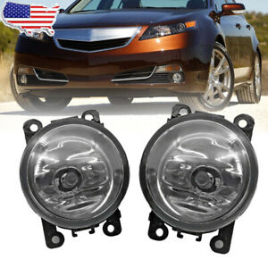 Pair Fog Light For Acura Tl 2012 2013 2014 Replacement W H11 55w 12v Bulbs Usa