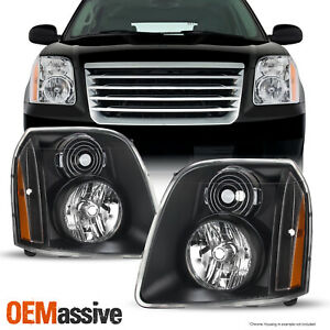 For 2007 2014 Gmc Yukon yukon Xl Denali Hybrid Amber Oe Style Black Headlights