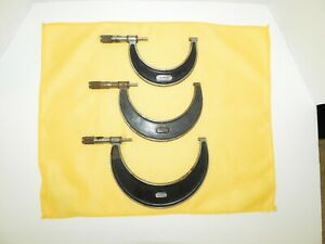 L s Starrett No 226 Outside Micrometer Caliper Set Of 3