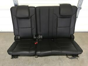 2015 2020 3rd Row Seats Jet Black Leather Tahoe Yukon Escalade Suburban