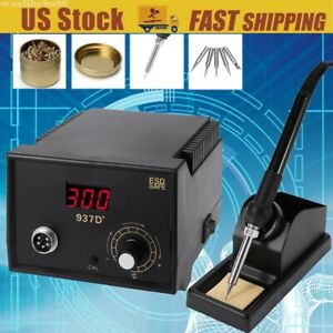 937d Soldering Station Digital Display Constant temperature 5pc Solder Tips Us